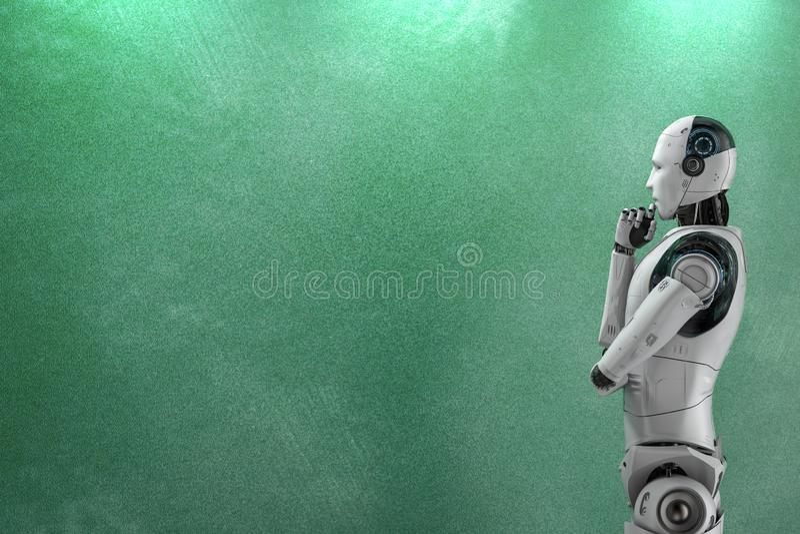 Robot z pustym blackboard royalty ilustracja