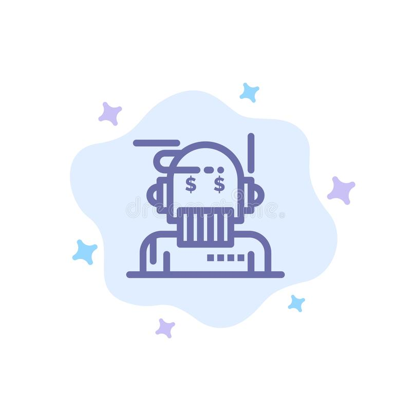 Robota Advisor, doradca, Advisor, algorytm, analityk Błękitna ikona na abstrakt chmury tle ilustracji