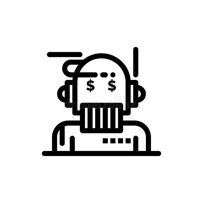 Robota Advisor, doradca, Advisor, algorytm, analityk sieci Widget karty szablon, i Teraz ściągania i zakupu royalty ilustracja