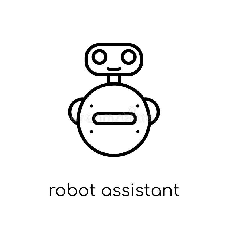 Robota asystenta ikona  royalty ilustracja