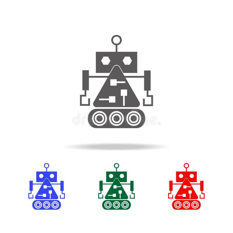 robota budowniczego ikony Elementy roboty w wielo- barwionych ikonach Premii ilości graficznego projekta ikona Prosta ikona dla s ilustracja wektor