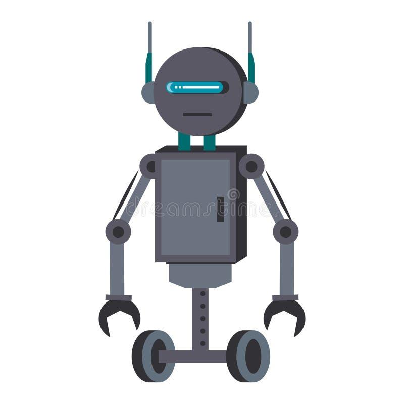 Robota charakteru śmieszna kreskówka odizolowywająca ilustracji