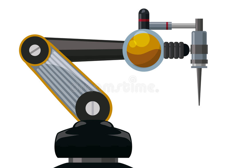 Robota cyfrowy projekt royalty ilustracja