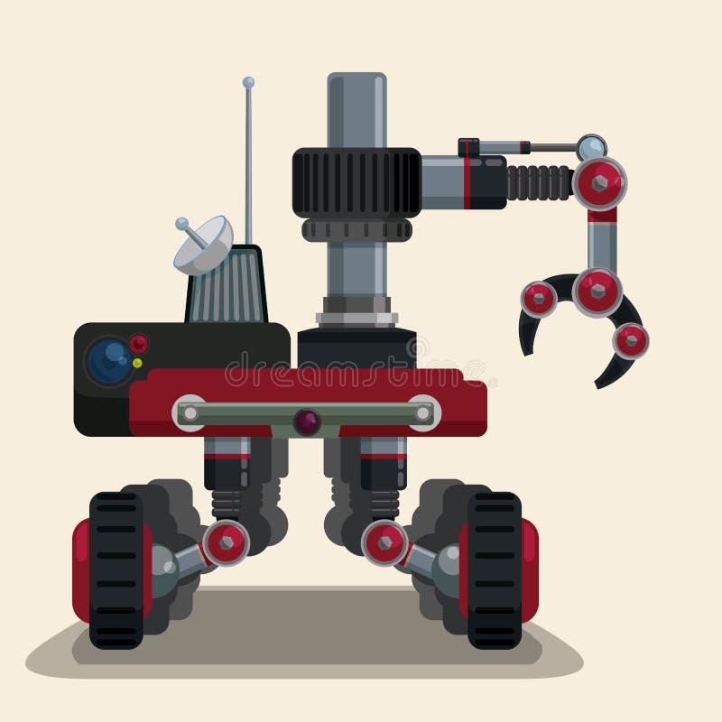 Robota cyfrowy projekt ilustracji