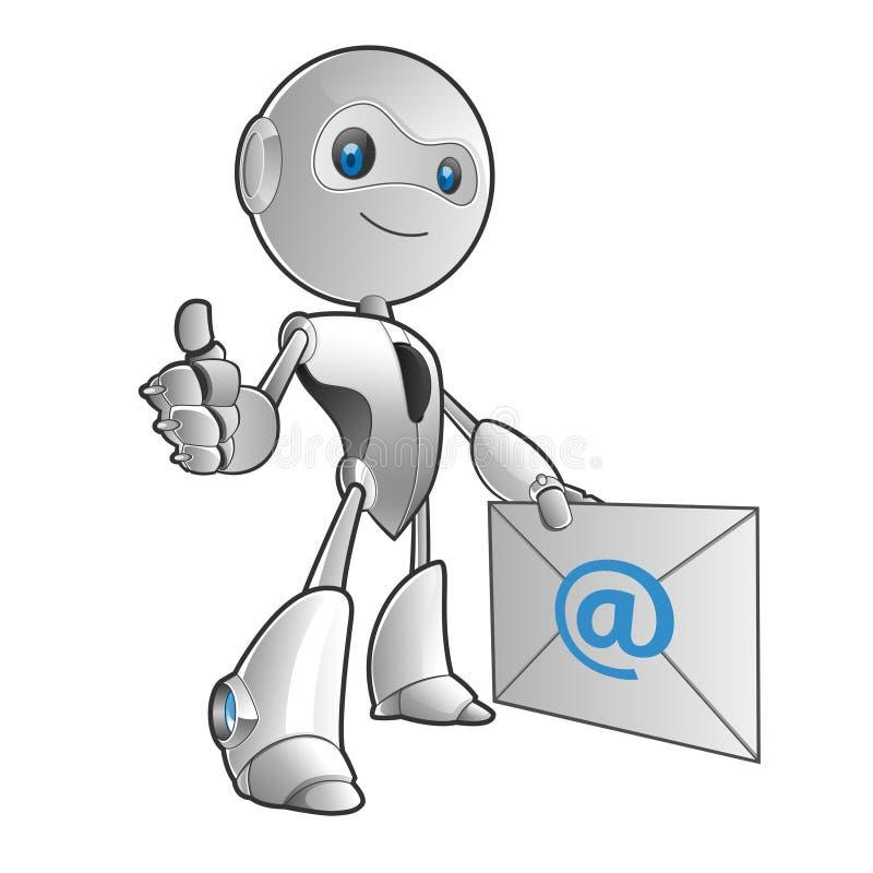 Download Robota email ilustracja wektor. Obraz złożonej z rosnący - 33056970