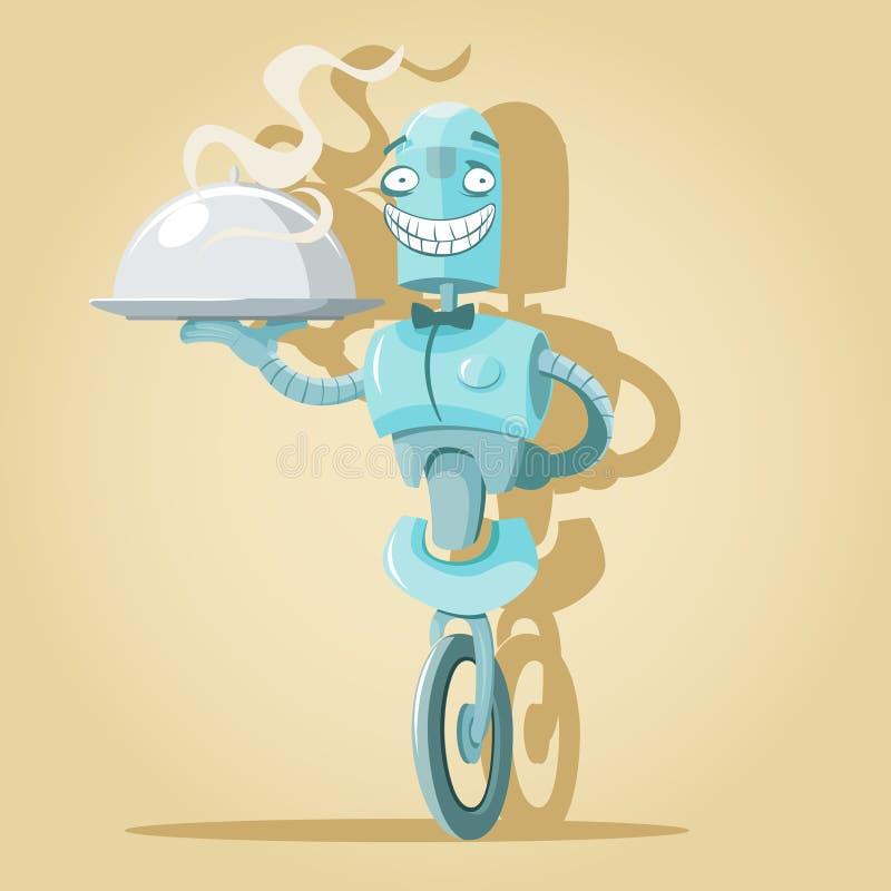 Robota kelner ilustracja wektor