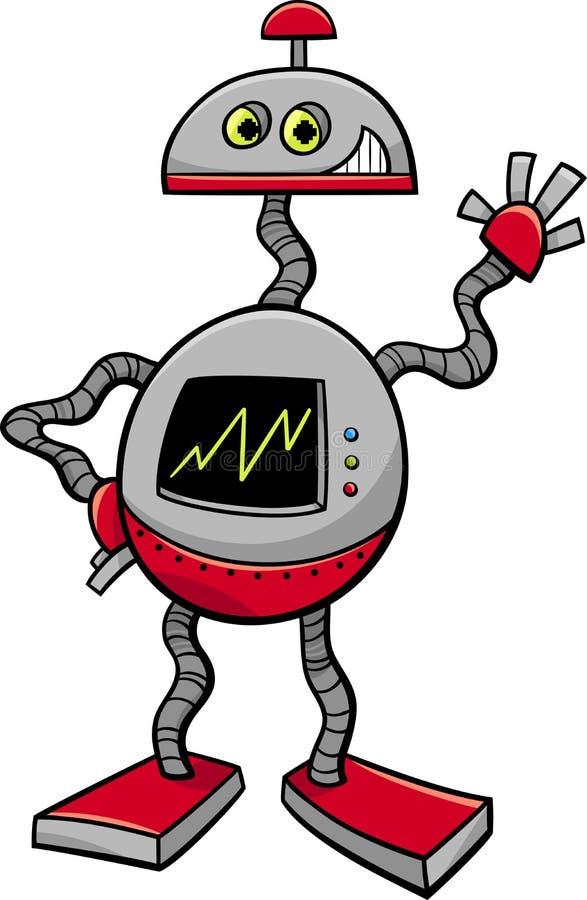 Robota lub droid kreskówki ilustracja ilustracji