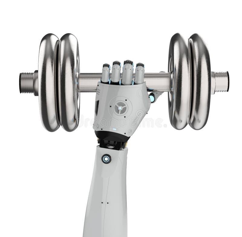 Robota mienia dumbbell royalty ilustracja