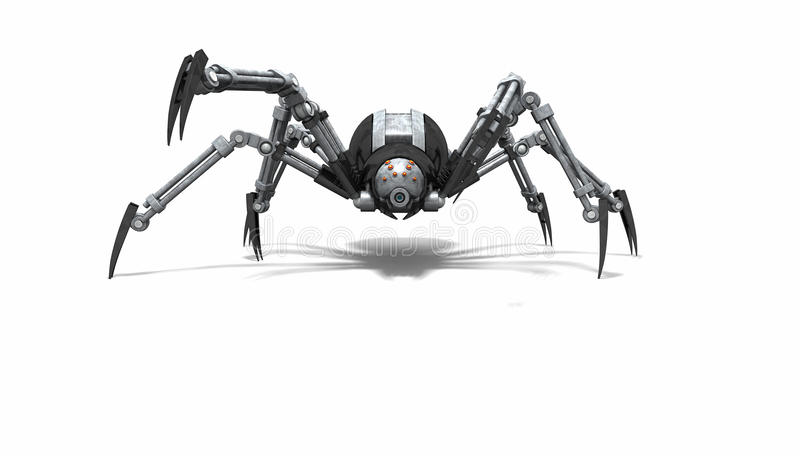 Robota pająk ilustracja wektor
