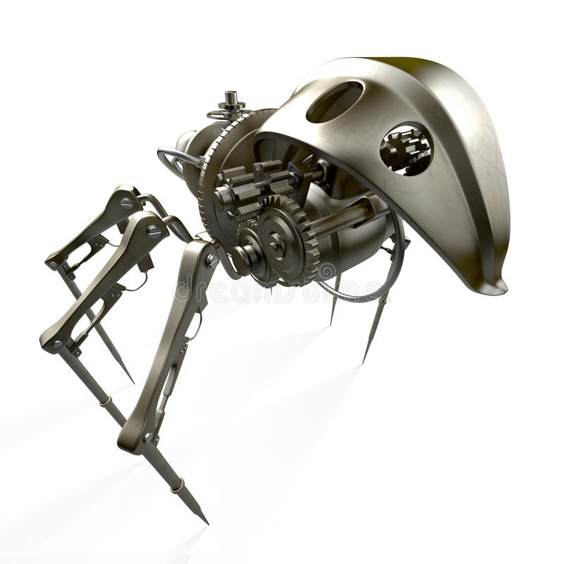 robota pająka szpieg ilustracji