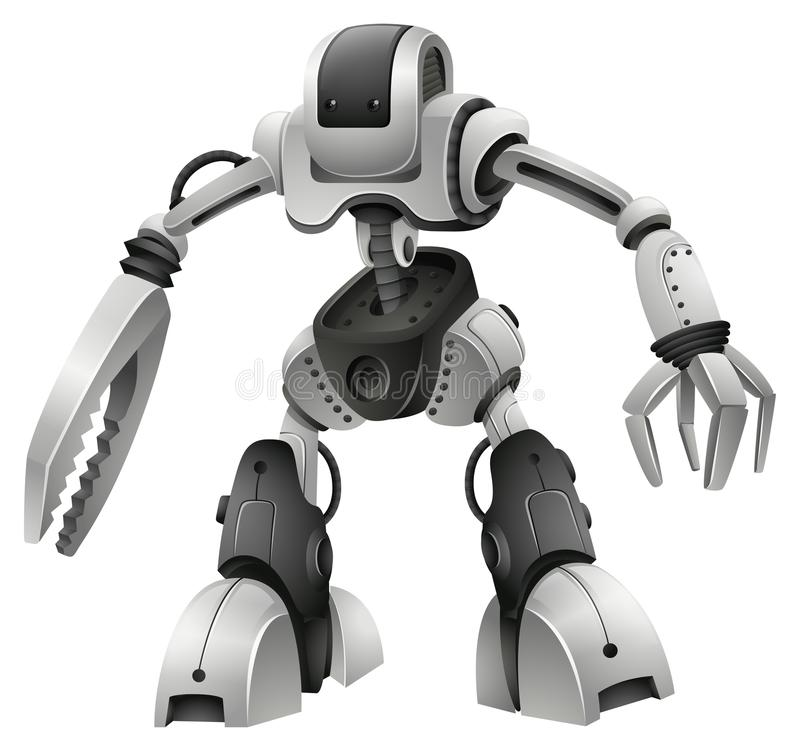 Robota projekt z broni rękami royalty ilustracja