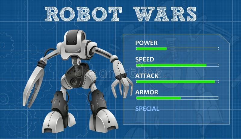 Robota projekt z specjalnych cech deską ilustracja wektor