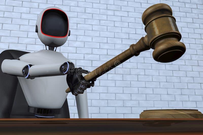 Robota sędzia przyszłość royalty ilustracja