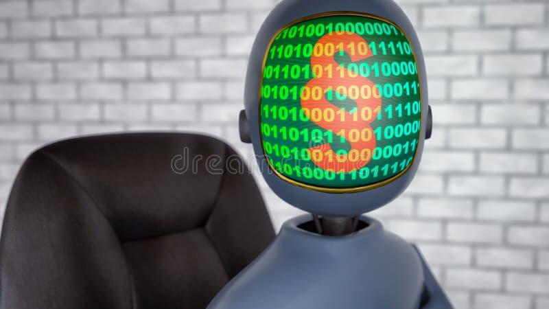 Robota sędzia w bliskiej przyszłości royalty ilustracja