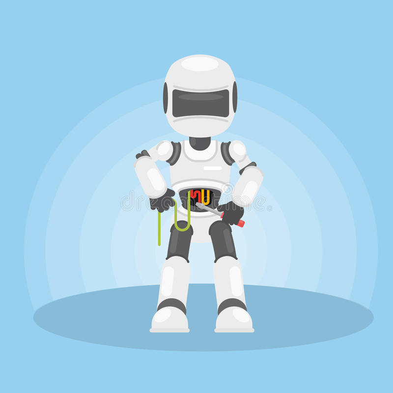 Robota ` s jaźni naprawa royalty ilustracja