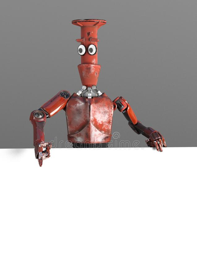 Robota vitage retro zerkni?cia out od ?ciana sztandaru za ilustracja wektor