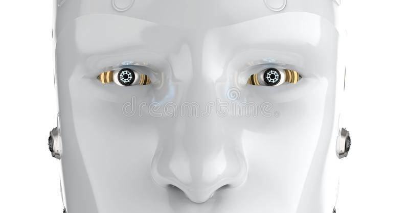 Robota zamknięty up royalty ilustracja