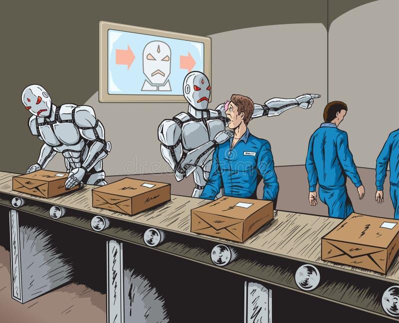 Robota zastępstwo ilustracji
