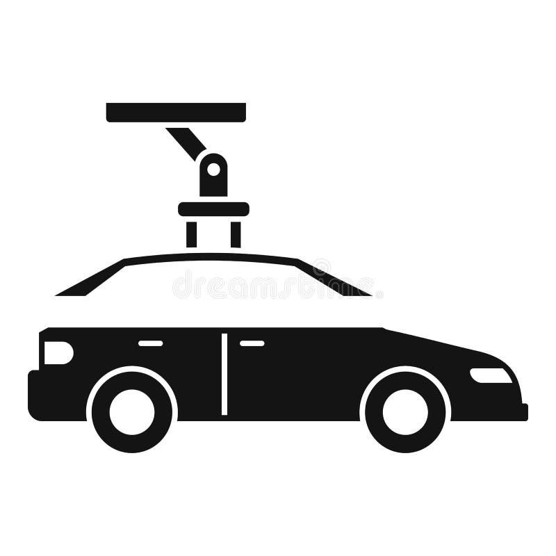 Robota zgromadzenie samochodu dachu ikona, prosty styl royalty ilustracja