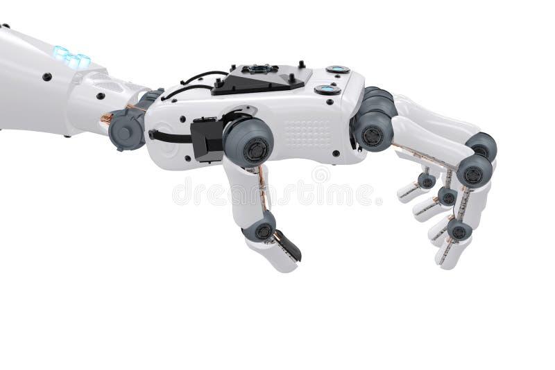 Robotachtige handholding stock foto