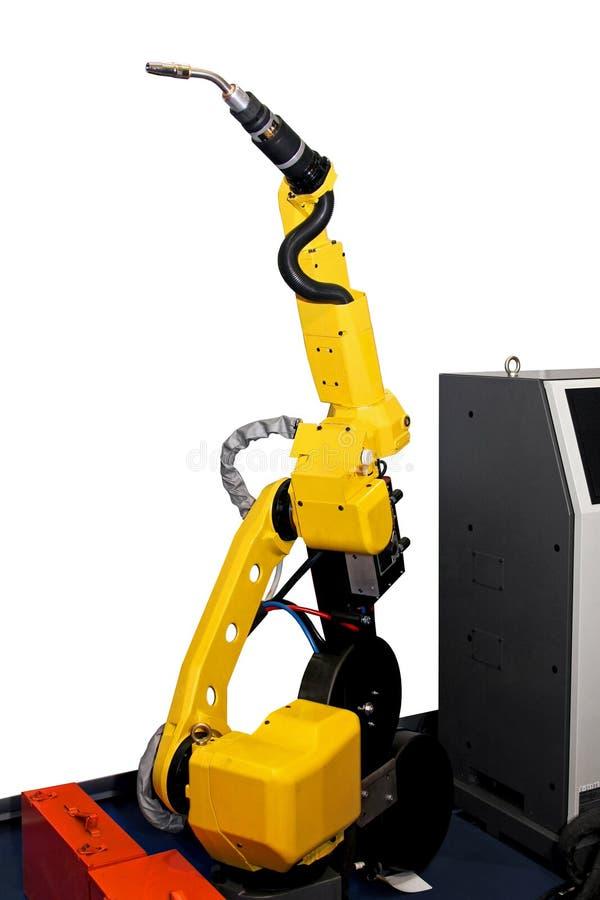 Robotachtige lasser stock afbeeldingen