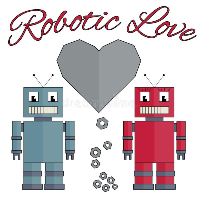 Download Robotachtige Liefde vector illustratie. Illustratie bestaande uit beeld - 54080150