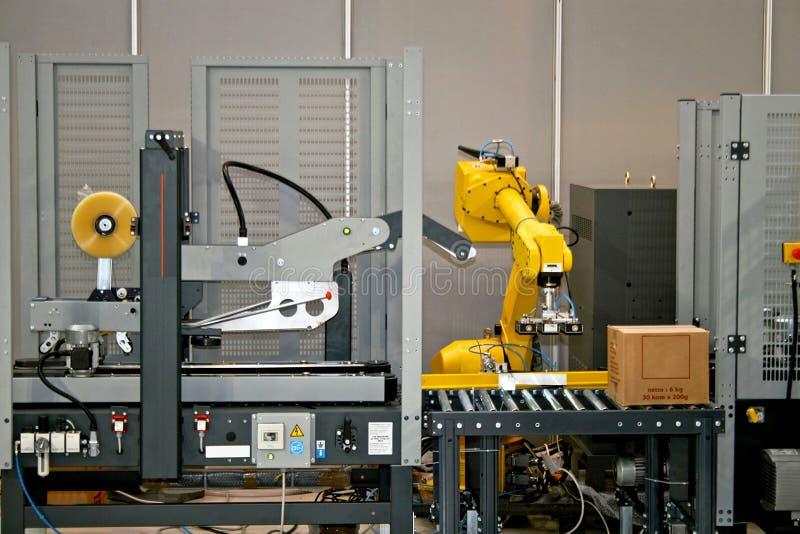 Robotachtige lijn stock afbeelding