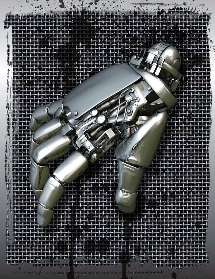 Robotachtige mechanische hand royalty-vrije illustratie