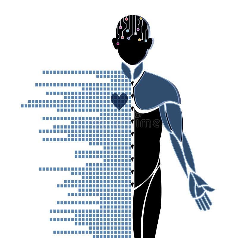 Robotachtige mens royalty-vrije illustratie