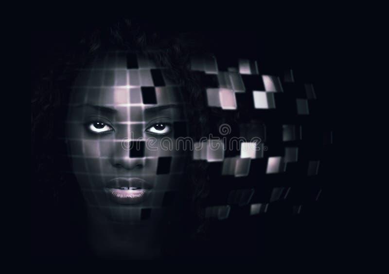 Robotachtige vrouw royalty-vrije stock foto's
