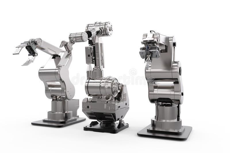 Robotachtige wapens op een rij vector illustratie