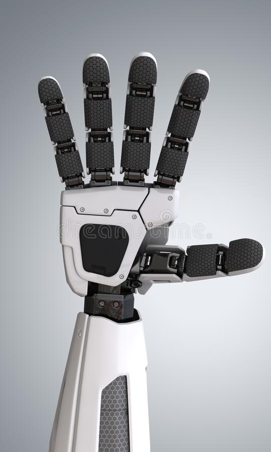 Robotandroidhand stock illustrationer