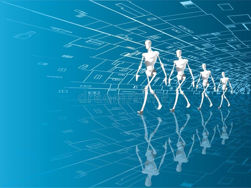 robotar vektor illustrationer