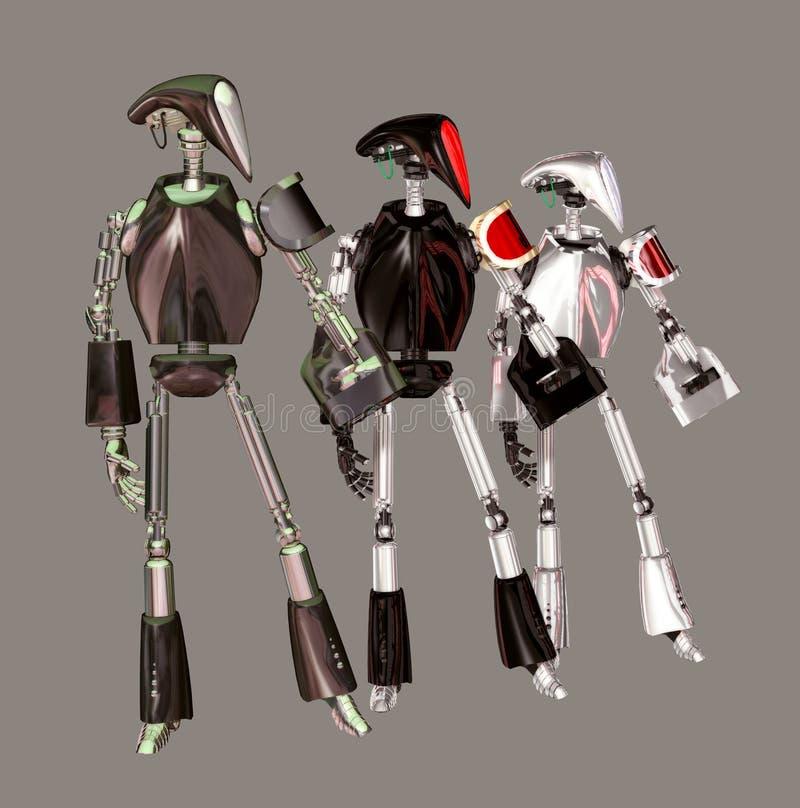 robotar stock illustrationer