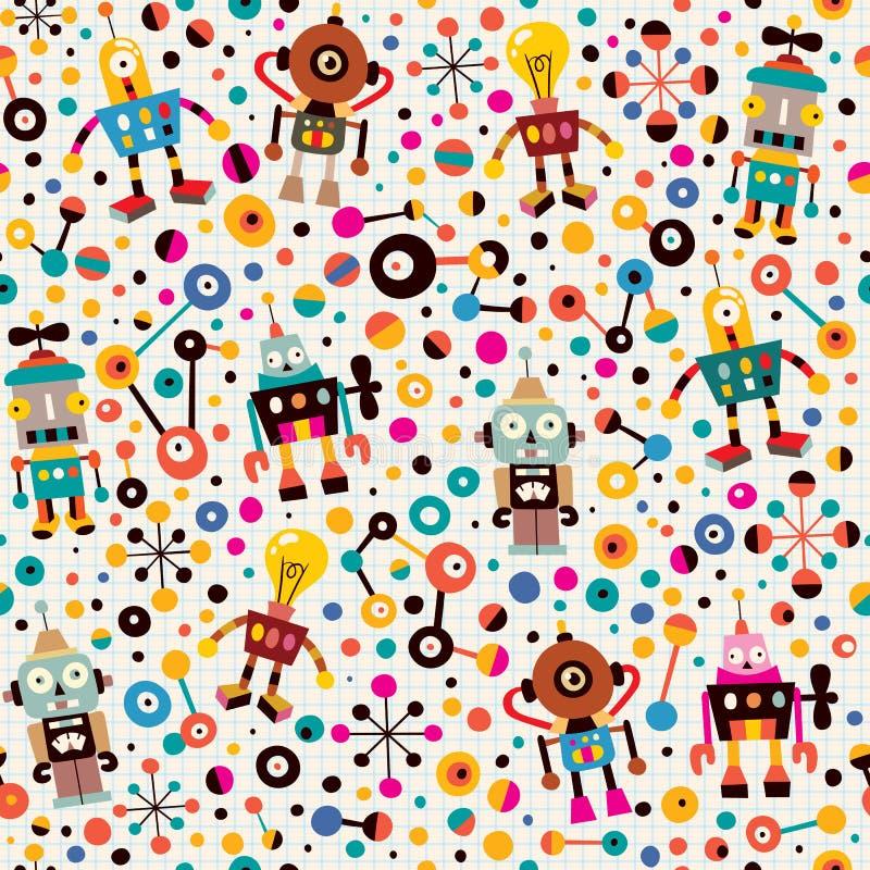 Robotar mönstrar vektor illustrationer