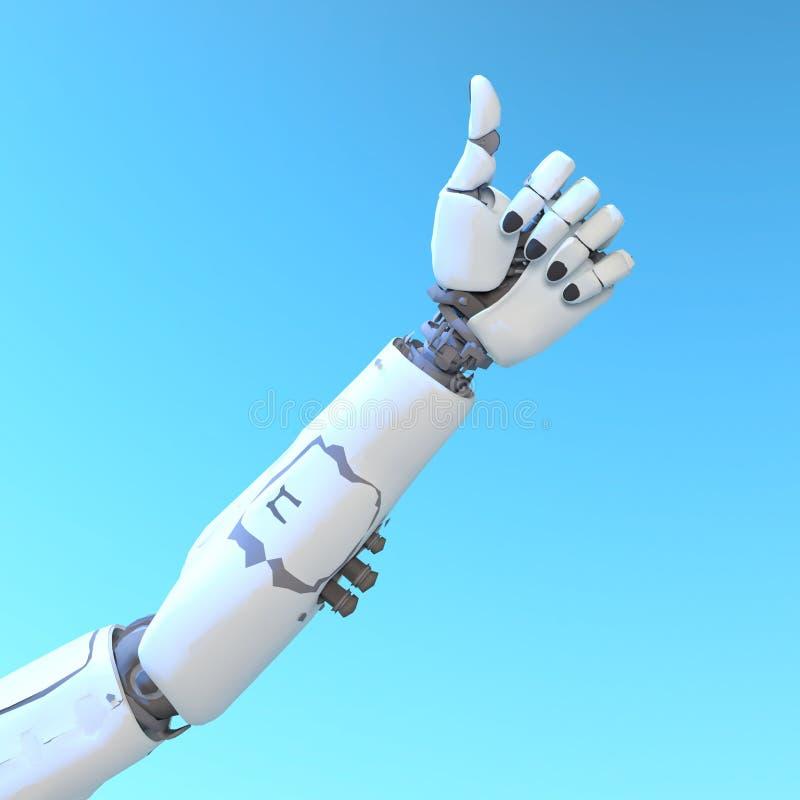 Robotarm arkivbild