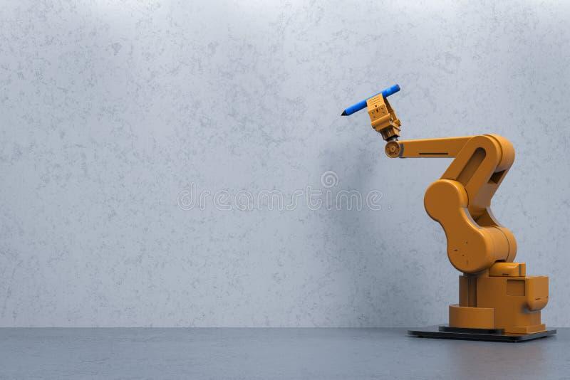 Robotarmhandstil stock illustrationer