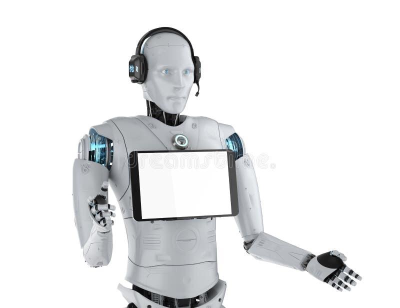 Robotassistentbegrepp royaltyfri illustrationer