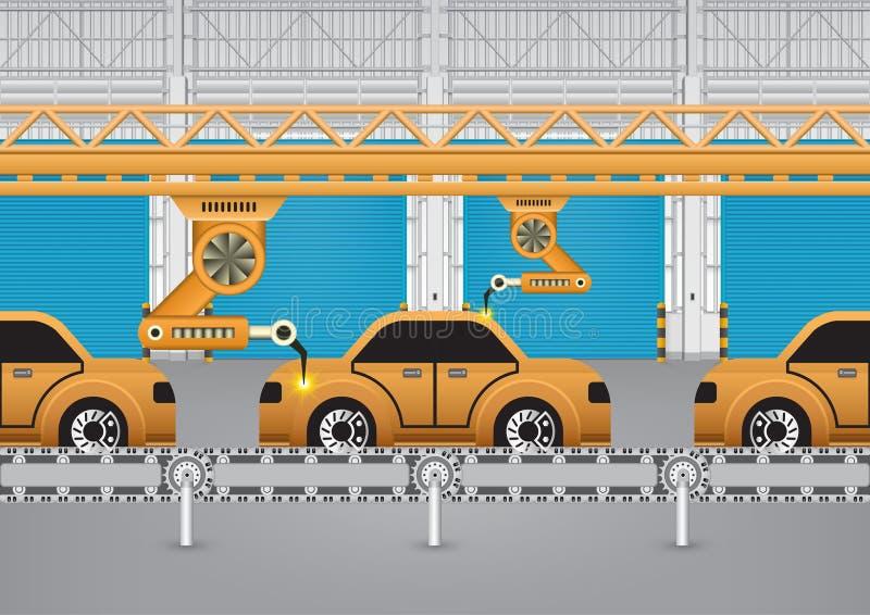 Robotbil royaltyfri illustrationer