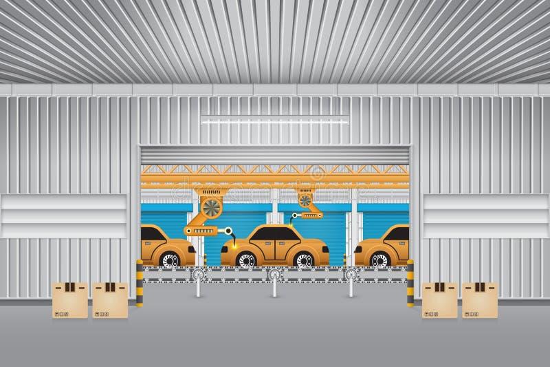 Robotbil vektor illustrationer