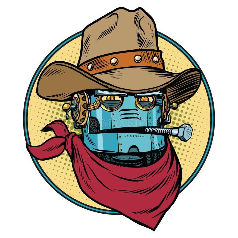 RobotcowboyWest lös värld royaltyfri illustrationer