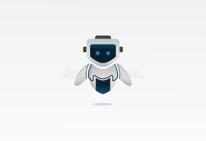 Robotdesignen royaltyfri illustrationer