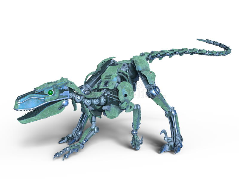 Robotdinosaurie royaltyfri illustrationer