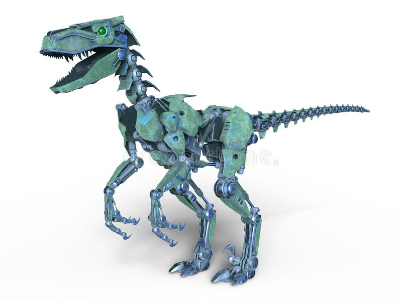 Robotdinosaurie vektor illustrationer