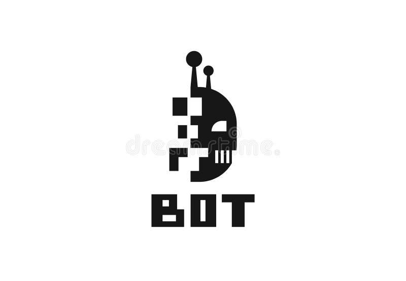 Robotembleem Chatbot, bot symbool vector illustratie