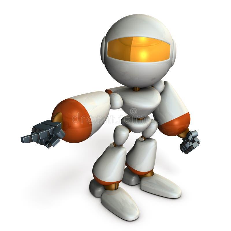 Roboten pekar det och beställer det vektor illustrationer