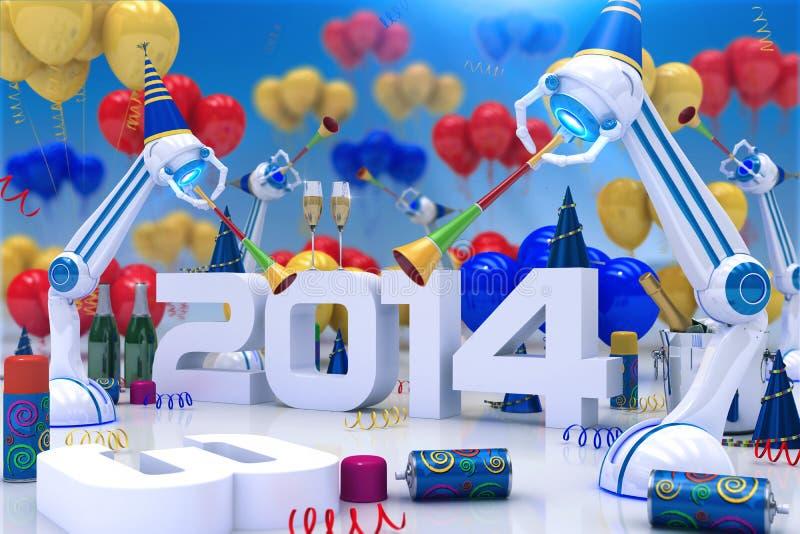 Roboter 2014 stock abbildung