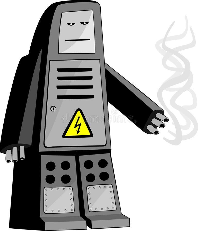 Download Roboter vektor abbildung. Illustration von liquidate, löschen - 9095280