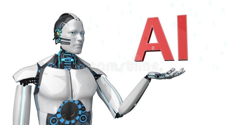 Roboter AI stock abbildung