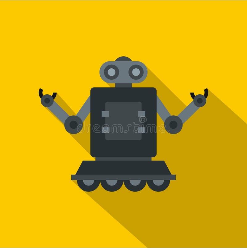 Roboter auf Radikone, flache Art lizenzfreie abbildung